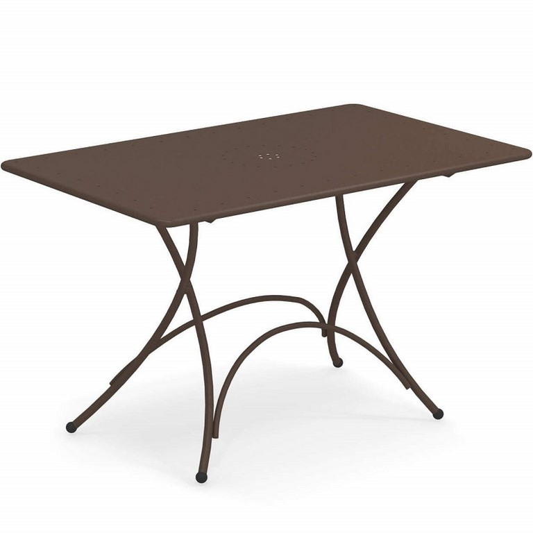 Pigalle Rectangular Folding Table Emu cm. 120x76