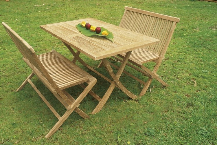 Bristol 2 seat folding bench teak wood centro mobili giardino for Mobili giardino teak
