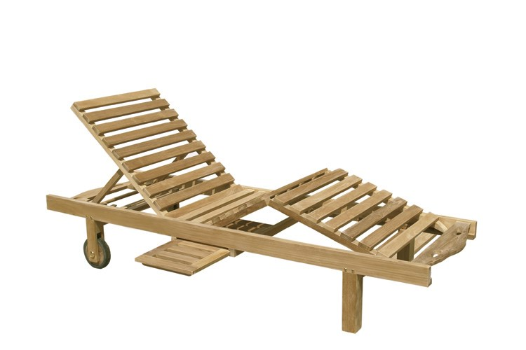 Caracas sunbed teak wood centro mobili giardino for Centro italiano mobili