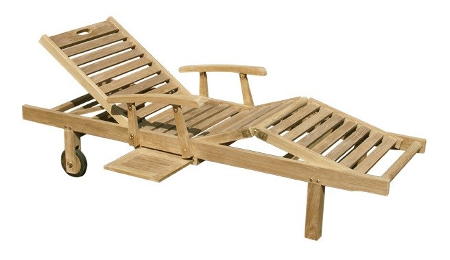 Caribe sunbed teak wood centro mobili giardino for Centro italiano mobili