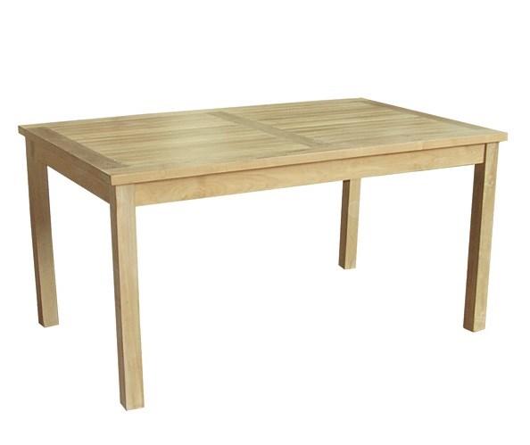 Dehors rectangular table teak wood centro mobili giardino for Mobili giardino teak