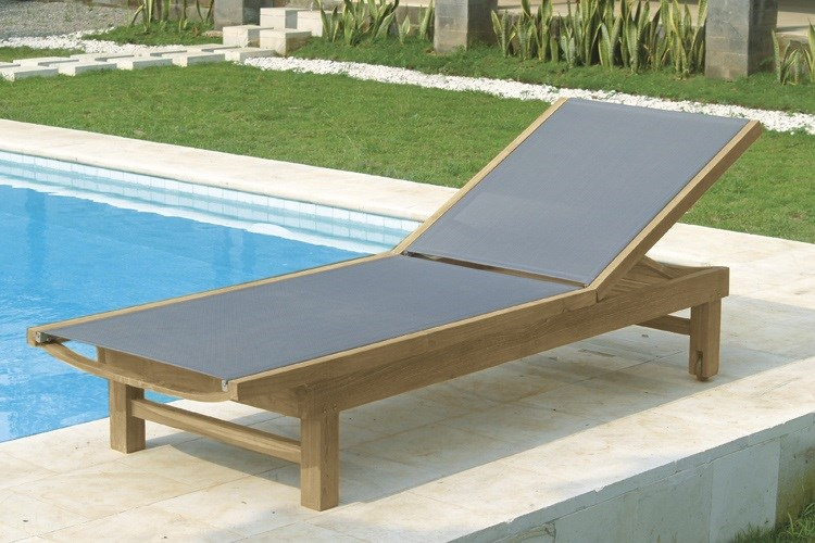 Macao sunbed teak wood centro mobili giardino for Centro italiano mobili