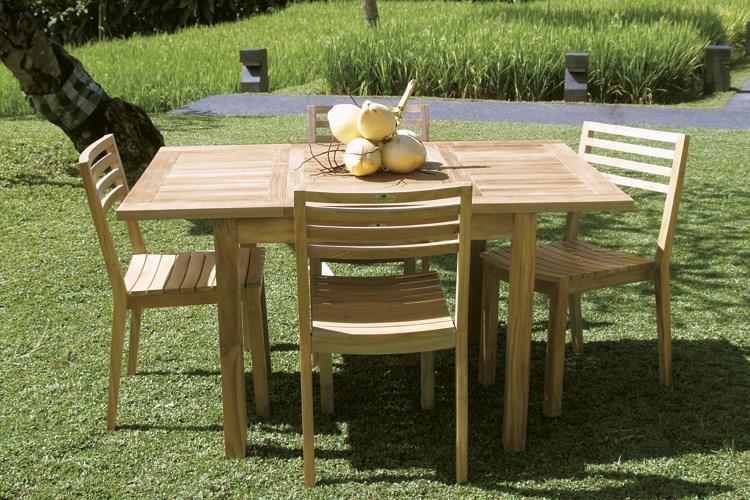 medea square rectangular extending table teak wood