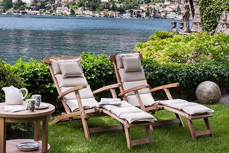 Ocean folding deckchair teak wood centro mobili giardino for Mobili giardino teak