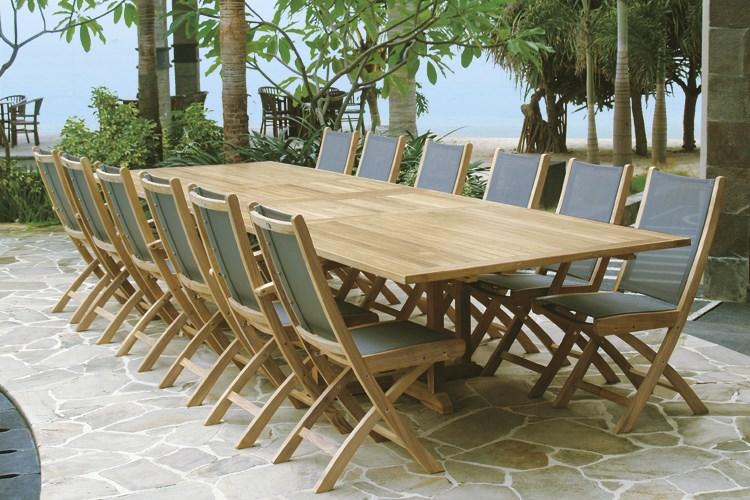 olimpo rectangular extending table teak wood centro mobili