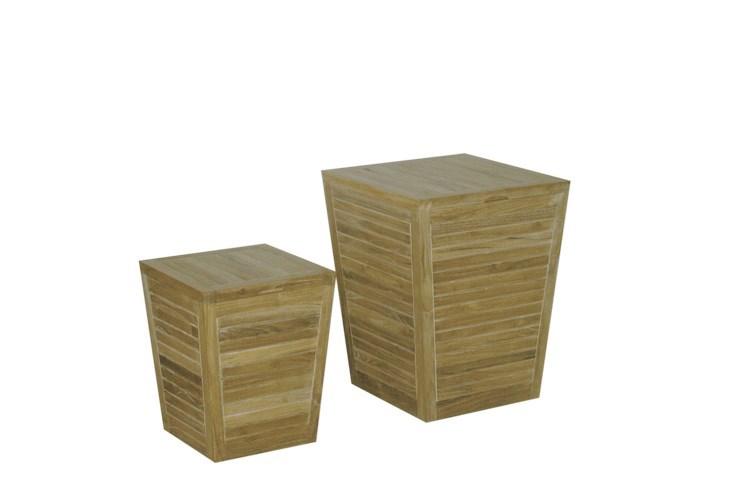 Oxy set of pots teak wood centro mobili giardino for Mobili giardino teak