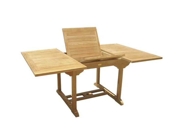 Pericle rectangular extending table teak wood centro for Mobili giardino teak