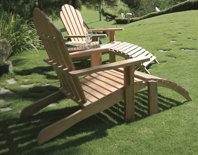Riviera folding deckchair teak wood centro mobili giardino for Mobili giardino teak