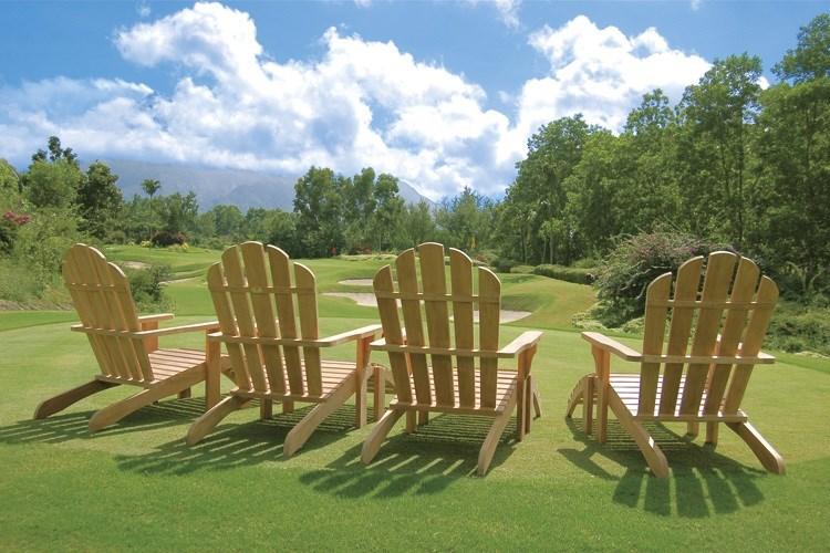 Riviera folding deckchair teak wood centro mobili giardino for Outdoor mobili