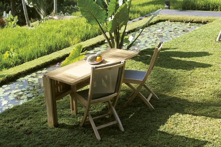 Telemaco rectangular folding table teak wood centro mobili for Mobili giardino teak