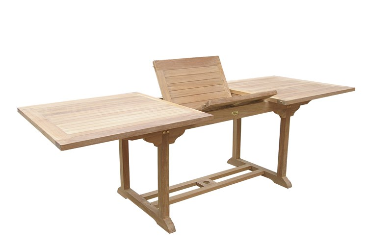 Titano rectangular extending table teak wood centro mobili giardino