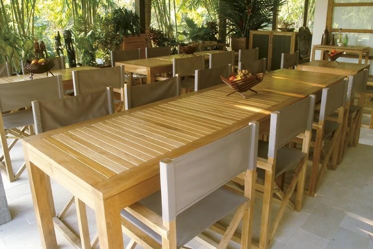 Venezia rectangular table teak wood centro mobili giardino for Mobili giardino teak
