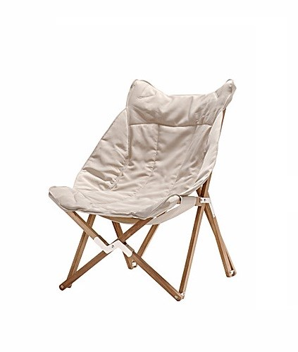 Venezia tripolina upholstered folding deckchair teak wood for Mobili giardino teak
