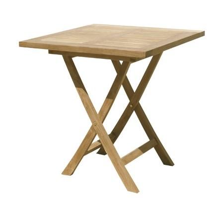 Singaraja square folding table teak wood centro mobili for Mobili giardino teak